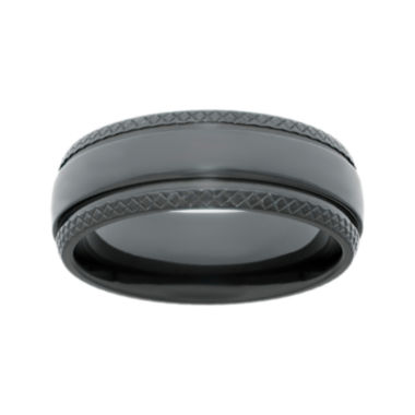jcpenney.com | Mens Black Zirconium Wedding Band