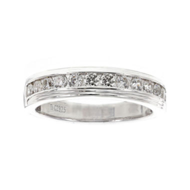 jcpenney.com | DiamonArt® Mens Cubic Zirconia Sterling Silver Wedding Band