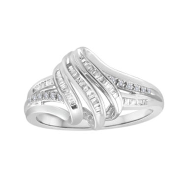 jcpenney.com | 1/4 CT. T.W. Diamond Sterling Silver Ribbon Ring