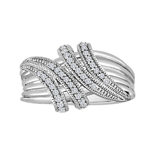 1/5 CT. T.W. Diamond Sterling Silver Wrap Ring