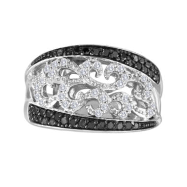 jcpenney.com | 1/2 CT. T.W. White and Color-Enhanced Black Diamond Sterling Silver Ring