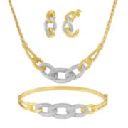 1/4 CT. T.W. Diamond Oval Link 3-pc. Boxed Jewelry Set