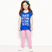 Okie Dokie® Graphic Tee or Leggings - Preschool Girls 4-6x