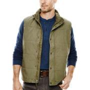 St. John's Bay® Flannel-Lined Canvas Vest