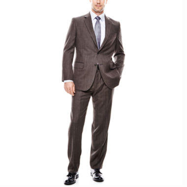 jcpenney.com | Stafford® Travel Brown Check Suit Separates - Classic Fit