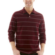 St. John's Bay® Long-Sleeve Sueded Jersey Polo