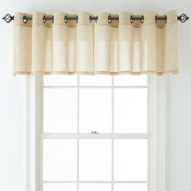 jcpenney.com | JCPenney Home™ Bayview Grommet-Top Sheer Tailored Valance