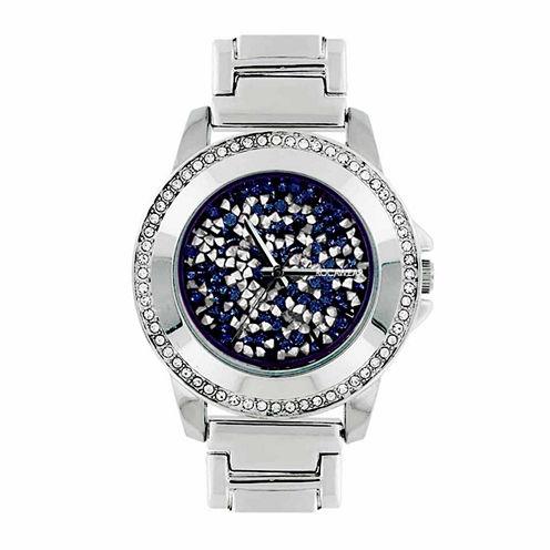 Rocawear Womens Silver Tone Bracelet Watch-Rl11708s1-064