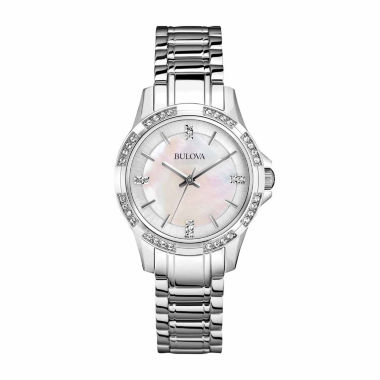 jcpenney.com | Bulova Womens Silver Tone Strap Watch-96l191