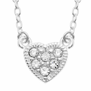 jcpenney.com | itsy bitsy™ Crystal Sterling Silver Heart Pendant Necklace