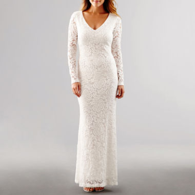 jcpenney.com | Blu Sage Long-Sleeve Lace Wedding Gown