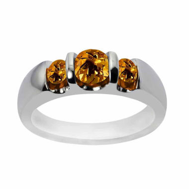 jcpenney.com | Sterling Silver Genuine Citrine Three Stone Ring