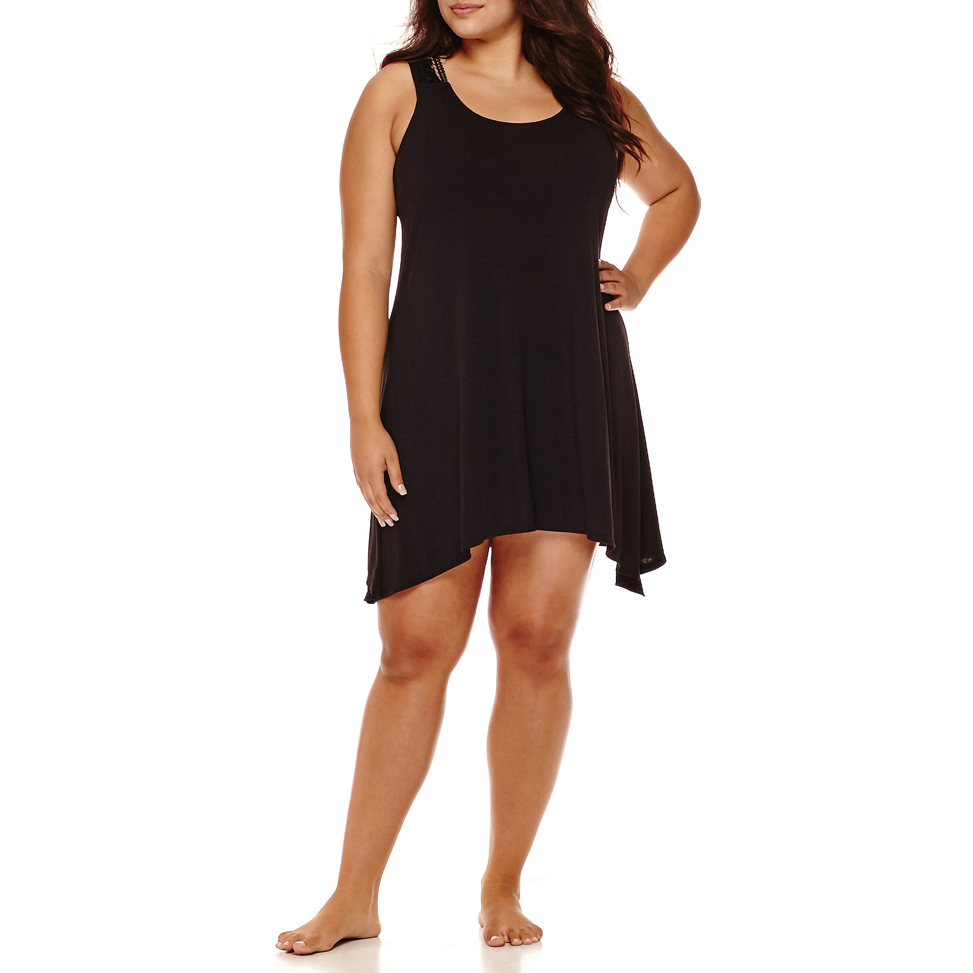 a.n.a Lace-Back Dress Cover-Up - Plus plus size,  plus size fashion plus size appare