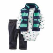 Carter's® Blue Dinosaur 3-pc. Vest Set - Baby Boys newborn-24m