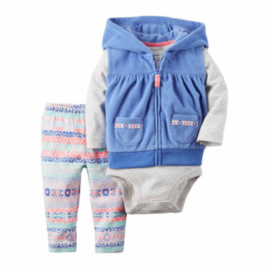 jcpenney.com | Carter's Girls 3-pc. Short Sleeve Pant Set-Baby