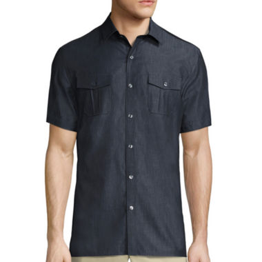 jcpenney.com | Claiborne® Short-Sleeve Military Woven Shirt