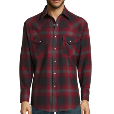 jcpenney.com | Ely Cattleman® Long-Sleeve Brawny Flannel Snap-Front Western Shirt