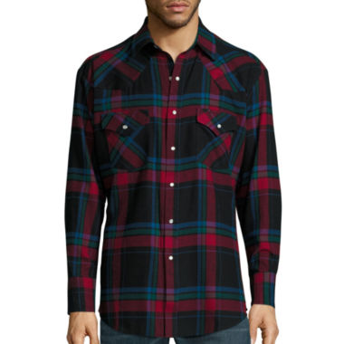 jcpenney.com | Ely Cattleman® Long-Sleeve Flannel Snap-Front Western Shirt