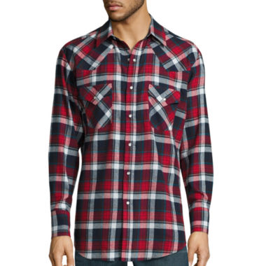 jcpenney.com | Ely Cattleman® Long-Sleeve Flannel Snap-Front Western Shirt Big and Tall