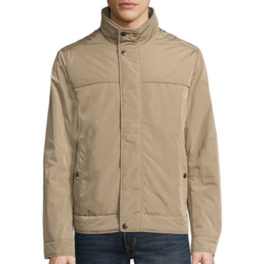 jcpenney.com | Dockers® Faux Memory Rib Knit Stand Collar Bomber