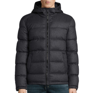 jcpenney.com | Claiborne® Wool Look Puffer With Hood