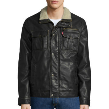 jcpenney.com | Levi's® Faux Leather Trucker Jacket with Sherpa Lining