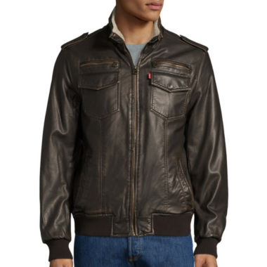 jcpenney.com | Levi's® Faux-Leather Trucker Bomber Jacket