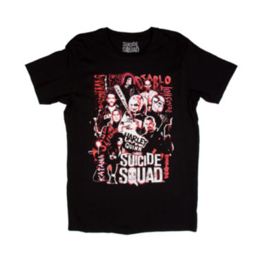 jcpenney.com | Suicide Squad Poster Short-Sleeve Crewneck Tee