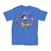 Short-Sleeve Mickey Mouse Pennant Flags Tee