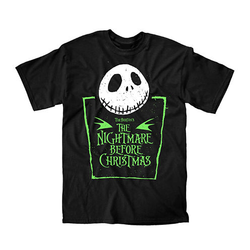 Novelty Short-Sleeve Nightmare Before Christmas Green Badge Tee
