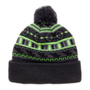 Xersion® Aztec Fleece-Lined Pom Cuff Cap