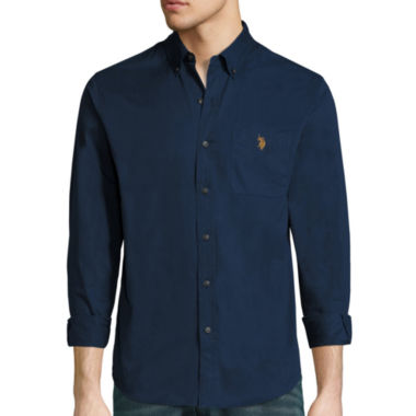 jcpenney.com | U.S. Polo Assn.® Long-Sleeve Slim-Fit Twill Sportshirt