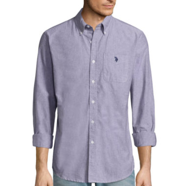 jcpenney.com | U.S. Polo Assn.® Long-Sleeve Slim-Fit Oxford Shirt