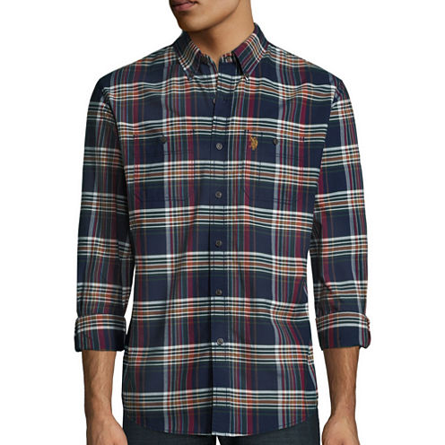 U.S. Polo Assn.® Long-Sleeve Oxford Sport Shirt