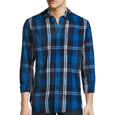 jcpenney.com | U.S. Polo Assn.® Long-Sleeve Plaid Twill Sport Shirt