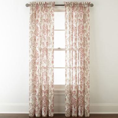 jcpenney.com | Royal Velvet Sirente Sheer Rod-Pocket Curtain Panel
