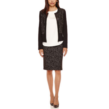 jcpenney.com | Liz Claiborne® Long-Sleeve Jacket, Sleeveless Shell or Knit Skirt - Petite