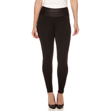 jcpenney.com | Bisou Bisou® Lace-Up Leggings