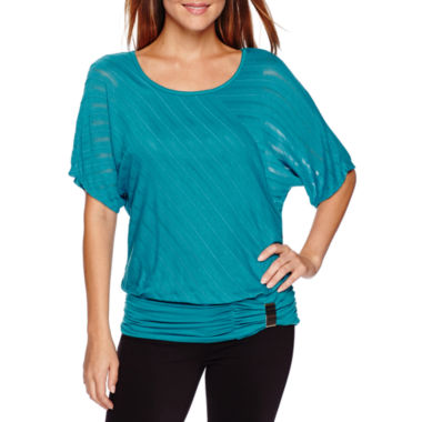 jcpenney.com | Alyx® 3/4-Sleeve Shadow-Stripe Dolman Top - Petite