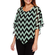 Alyx® 3/4-Sleeve Knit Popover Top - Petite