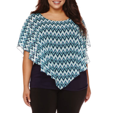 jcpenney.com | Alyx® Short-Sleeve Popover Top - Plus