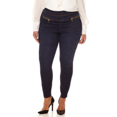 jcpenney.com | Bisou Bisou® Double-Stack Skinny Denim Pants - Plus