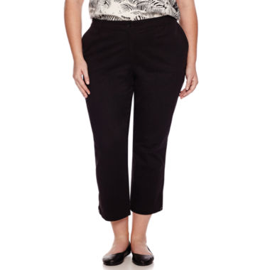 jcpenney.com | Liz Claiborne® Stretch Twill Cargo Cropped Pants - Plus