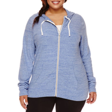 jcpenney.com | City Streets® Basic Zip-Front Hoodie - Juniors Plus