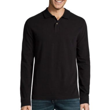 jcpenney.com | St. John's Bay® Long-Sleeve Sueded Polo