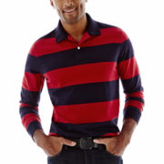 St. John's Bay® Sueded Bold Striped Polo Shirt