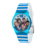 One Direction Womens Striped Strap Watch