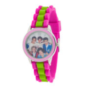 One Direction Womens Striped Silicone Strap Watch