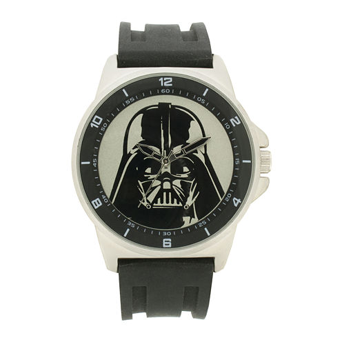 Darth Vader Mens Black Silicone Strap Watch