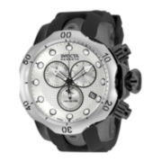 Invicta® Reserve Venom Mens Black Strap Chronograph Dive Watch